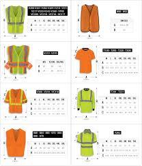 Hi Vis Size Chart R R Industries Inc