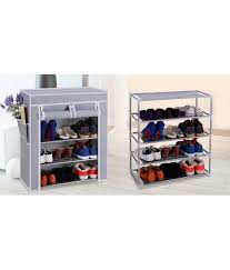 Portable & Collapsible 4 Layer Shoe Rack Organizer