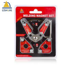 <b>LISHUAI</b> (<b>3Pcs</b>/<b>Pack</b>)<b>Multi angle</b> Welding Magnet + 20 200 Degree ...