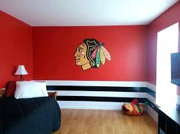chicago wall decor bedroom pulled together with a fathead wall decal pertaining to modern household wall