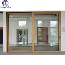 china aluminum aluminium exterior and interior metal toughened glass lift sliding entrance door china security door energy saving