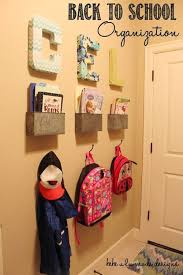 24 back to school organization ideas diy backpack and coats organizer