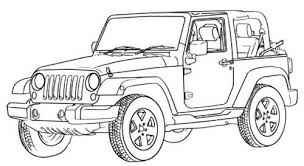 Small Picture 14 jeep coloring page to print Print Color Craft
