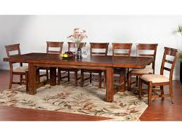 Sunny Designs Tuscany Distressed Mahogany 8 Piece Extension Table