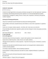 8 Sample Property Management Resumes Sample Templates