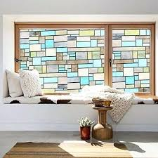 stick on window privacy stained glass window l stick windows doors shower cling home new