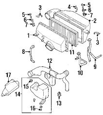 parts com® subaru forester air intake oem parts 2001 subaru forester base h4 2 5 liter gas air intake