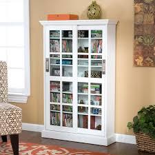 Media Storage Cabinet Tall Glass Door Ashlin 702 Disc Black Grande ...