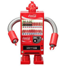Robot Vending Machine Impressive CocaCola Zero Vending Machine Robot Coke Red Figure JAPAN Weird
