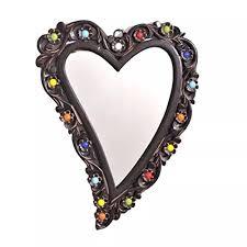 fancy mirror frame. Onlineshoppee Wooden Antique With Handicraft Work Fancy Design Mirror Frame Size(LxBxH-13x1x17) Inch