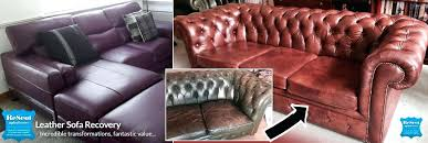 reupholster leather couch how