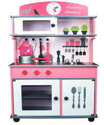 Childrens Wooden Kitchen Furniture Butternut Pink Wooden Toy Kitchen With Accessories