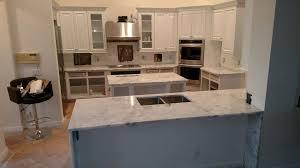 3 cm arctic white kitchen with waterfall edge palm beach countertops regarding 3cm countertop decor 22