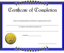 free certificate of completion template certificate of completion template 31 free word pdf psd eps
