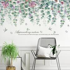 55 112cm green leaves wall stickers for