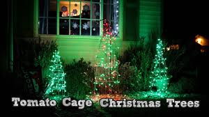 How To Make Outdoor Christmas Tree Out Of Lights Diy Christmas Decorations Tomato Cage Christmas Tree