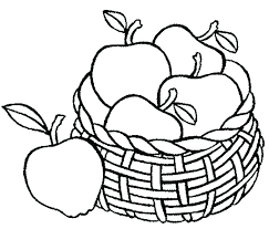 Fruit Coloring Page Fruits Coloring Page Well Suited Design Apple