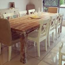 Upcycled Pallet Wooden Dining Table: