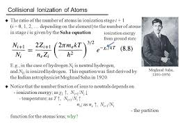 collisional ionization of atoms