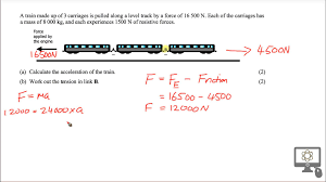 tension problem solution for sqa cfe higher physics train carriage