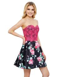 Nox Anabel Size Chart Nox Anabel Two Piece Lace Corset Floral Cocktail Dress 6270
