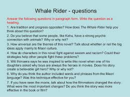 setting whale rider  whale rider questions answer the