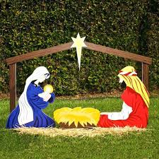 outside nativity scene classic outdoor set holy family by in espanol