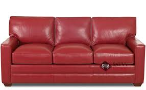 palo alto leather sleeper sofas queen