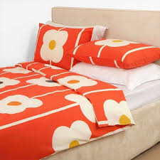 details about nwt orla kiely 100 combed cotton giant abacus print tomato 3 pc duvet cover set