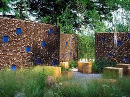 screening fence or garden wall 102