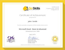 Microsoft Excel Certification Goskills