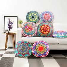 floor cushions diy. 2018 Colorful Large Mandala Floor Pillows Round Bohemian Meditation Pillow  Cover Ottoman Pouf Cushion DIY Floor Cushions Diy