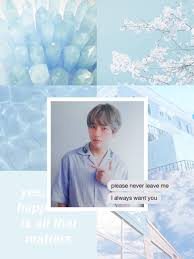 Light Blue Bts Made By Me Taehyung Bts Aesthetic Wallpaper Lock Screen