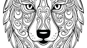 Wolf Face Coloring Pages For Adults