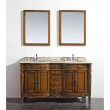 double sink vanity with granite top. ove decors karen chestnut undermount double sink bathroom vanity with granite top (common: 60