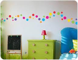 image of polka dot wall decals diy