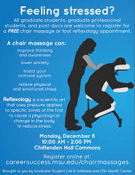 chair massage. at this time all of the chair massages and reflexology appointments have been reserved blue colored massage h