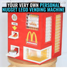 Personal Vending Machine Awesome YOUR VERY OWN PERSONAL NUGGET LEGO VENDING MACHINE McDonalds Lego