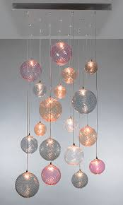 contemporary chandelier blown glass led custom breath globe