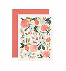 Mothers Greeting Card Blooming Mothers Day Greeting Card By Rifle Paper Co Made In Usa