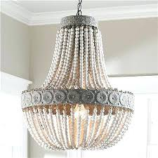 wood bead chandelier aged beaded small world market