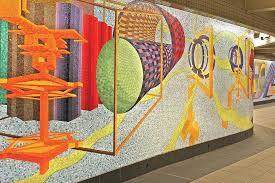 cludg glass mosaic wall art for