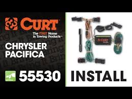 trailer wiring harness install curt 55530 on 2004 2008 chrysler trailer wiring harness install curt 55530 on 2004 2008 chrysler pacifica