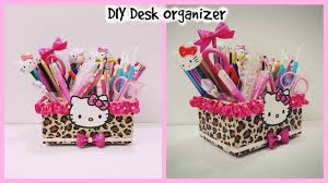 Diy Desk Organizer Diy Desk Organizer Cardboard Hello Kitty Organizer Diy Make Up