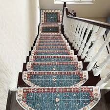 haipeng anti slip stair treads carpet pads step rugs runner mats self adhesive staircase ottomans 4