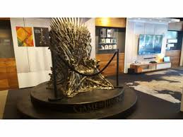 life size iron throne winter has come to boston an iron throne replica is now at the at t