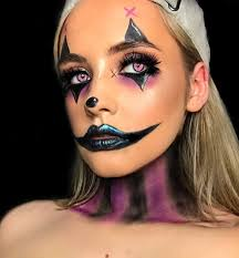 gorgeous women with clown makeup idea