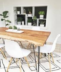 Modern furniture dining table Chic Contemporary Reno Natural Solid Acacia Wood Dining Table 180cm 71 Walmart 108 Best Contemporary Dining Rooms Images In 2019 Lunch Room