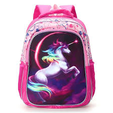 16/14/12 Inch) Horse-Design Backpack Girls School Bag Magical Colourful  Kids Student Bags Travel Rucksack Gifts | Wish
