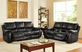 Living Room Bar Sets Lynx Collection 2 Piece Living Room Recliner Sofa Set With Light